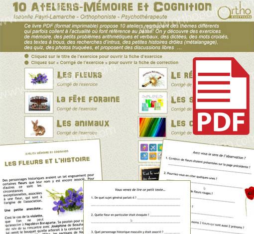 10 Ateliers - Mémoire et Cognition (pdf)