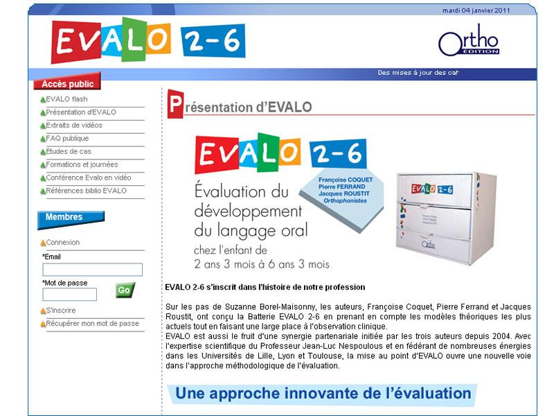 EVALO 2-6 - 2ème licence