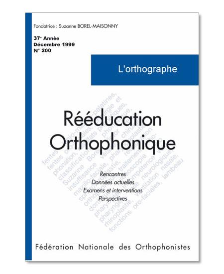 N° 200 - L'orthographe (PDF)