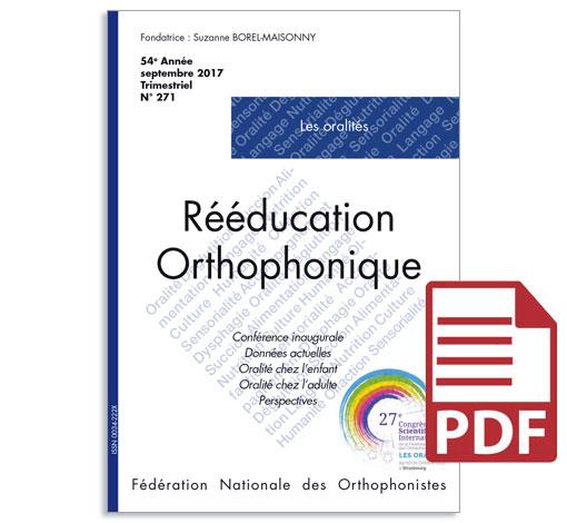 N° 271 - Les oralités (pdf)