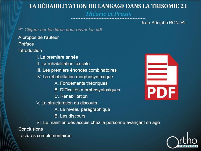 La réhabilitation du langage dans la Trisomie 21 (pdf)