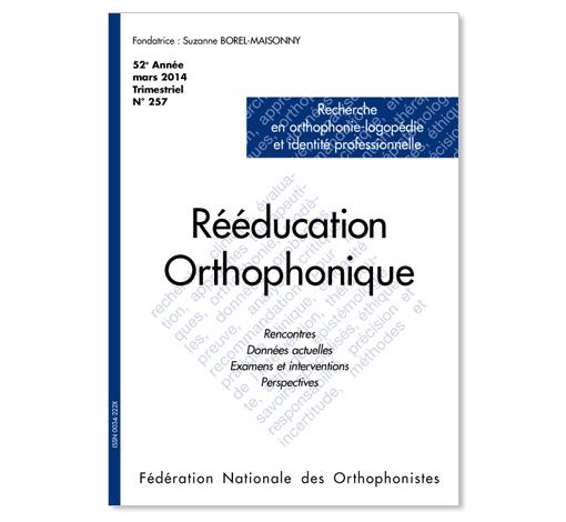 N° 257 - Recherche en orthophonie-logopédie et identité professionnelle