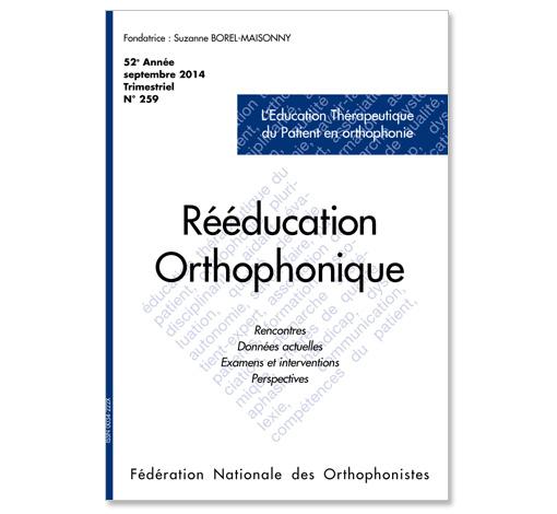 N° 259 - L'Education Thérapeutique du Patient en orthophonie