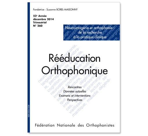 N° 260 - Neuroimagerie et orthophonie : de la recherche à la pratique clinique