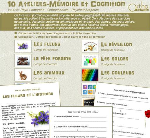 10 Ateliers - Mémoire et Cognition (pdf*)