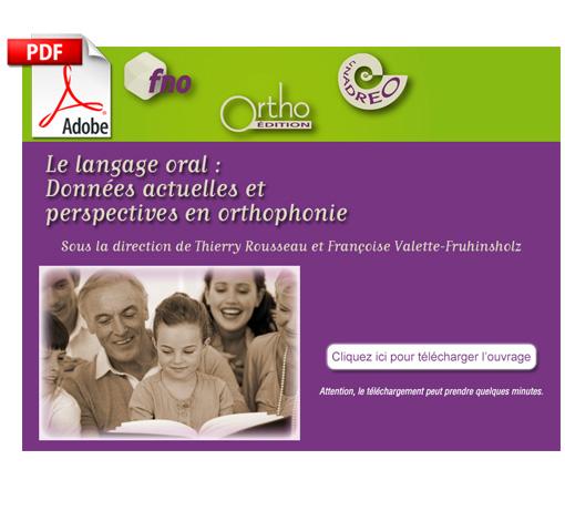 Langage oral - Données actuelles : Actes 2010 (pdf)
