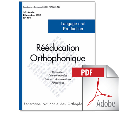 N° 196 - Langage oral - Production (PDF)