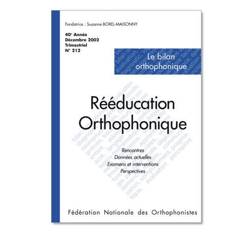 N° 212 - Le bilan orthophonique