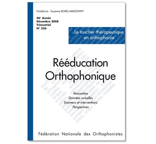 N° 236 - Le toucher thérapeutique en orthophonie