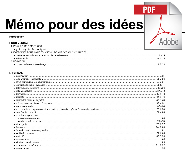 Mémo pour des idées (pdf*)