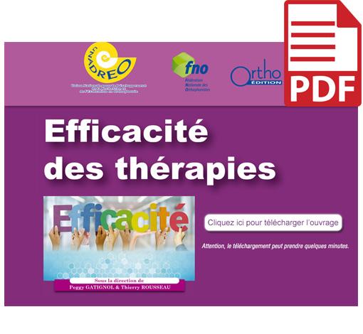 Efficacité des thérapies : Actes 2017 (pdf)