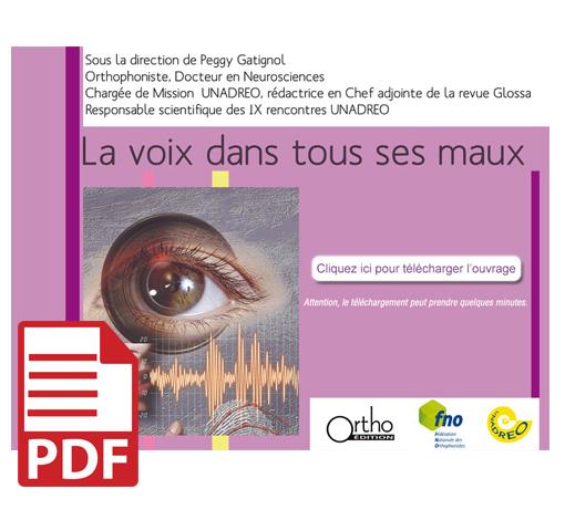 La voix dans tous ses maux : Actes 2009 (pdf)