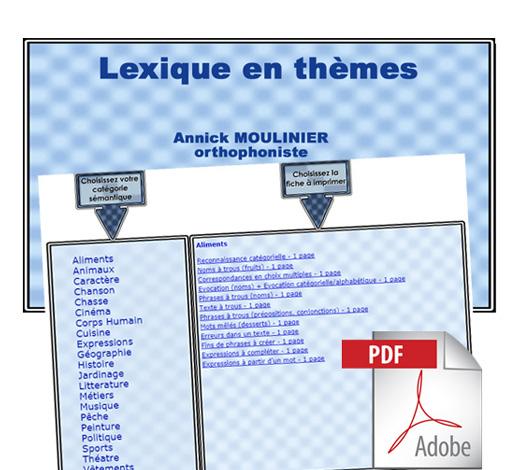 Lexique en thèmes (pdf)