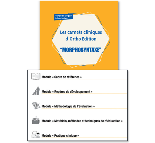 Morphosyntaxe (Les carnets cliniques d'Ortho Edition)