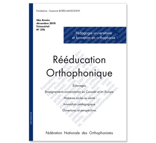 N° 276 - Pédagogie universitaire et formation en orthophonie