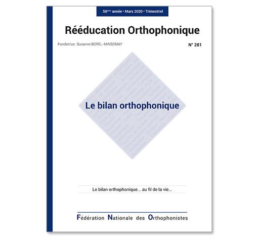 N° 281 - Le bilan orthophonique