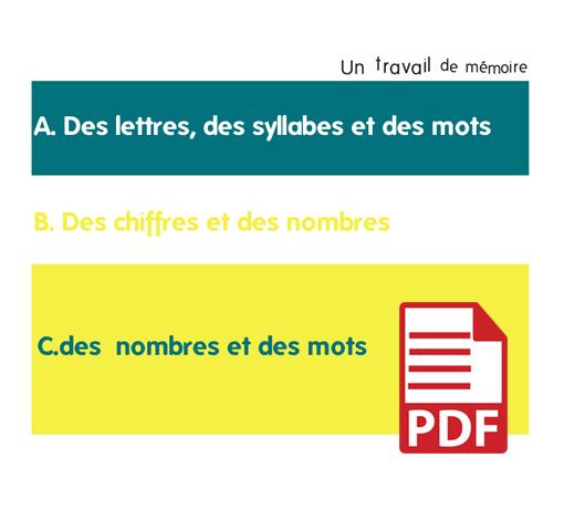 Un travail de mémoire (pdf)